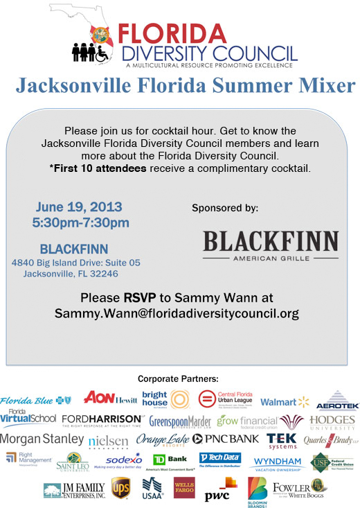 2013 Jacksonville Florida Summer Mixer